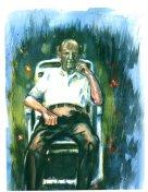 Old Man Looking At His Life