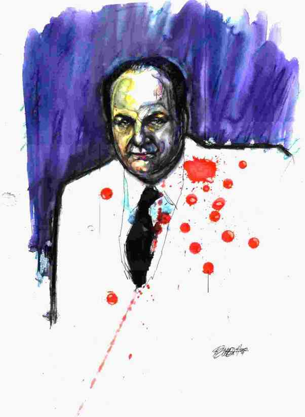 JAMES GANDOLFINIOriginal watercolor by Eric Ward, © 2005. All rights reserved.